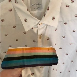 Mens Paul Smith Multi Color Peace Button Up